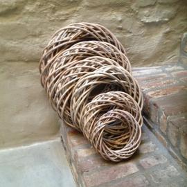 Krans vergrijsd rieten rotan 30 cm