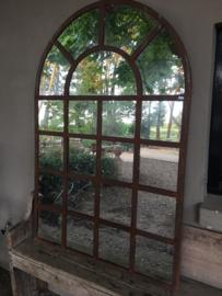 Groot grote stalraamspiegel tuinspiegel spiegel stalraam kozijn venster 175 x 100 cm