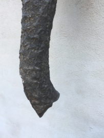 Unieke grote oude antieke metalen olifant Wandpaneel wandornament grijs industrieel landelijk urban metaal dieren kop