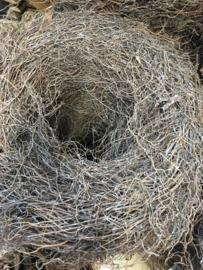 Grote grey wash krans 50 cm vergrijsd landelijk root thin