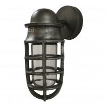 Grijs metalen wandlamp lantaarn stallamp industrieel landelijk stoer grijze lamp vintage
