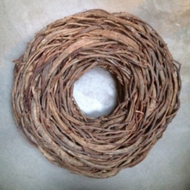 Grote krans 85 cm naturel thick crazy vine rough