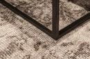 Stoere truckwood salontafel tafel bijzettafel lounge metalen onderstel landelijk industrieel H40 x 85 x 50 cm