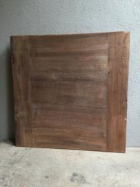 tafelblad teakhout tafel blad 70 X 70 cm vierkant