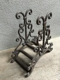 Gietijzeren tuinslang haspel beugel classic  tuinslanghaspel wandbeugel landelijk bruin brocant stoer