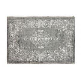 Vintage licht grijs beige tapijt kelim vloerkleed sleets wandkleed 230 x 160 cm