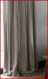Linnen gordijnen met metalen ringen 290 x 140 cm curtain merk BLOOM beige naturel natural
