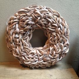 Krans krul Coco cut wreath 65 cm whitewash