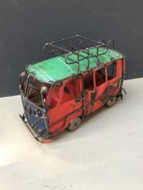 Blikken Volkswagen bus busje speelgoed vintage blik recycled