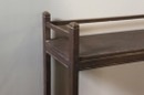 Oud houten keukenkast rek schap keukenrek vitrinekast glas servieskast landelijk stoer 125 x 85 x 30 cm
