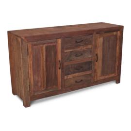 Prachtig houten dressoir kast sidetable ladenkast landelijk stoer industrieel 160 x 50 x H90 cm