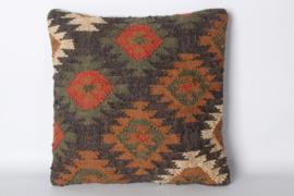 Prachtig kelim kussen 45 x 45 cm landelijk stoer vintage color colour
