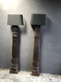 Losse halve Lampekap grijs antraciet landelijk stoer robuust vintage