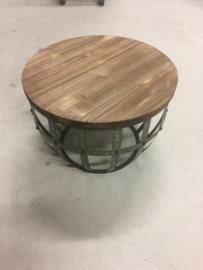 Leuk klein bijzettafeltje tafeltje industrieel landelijk metaal hout