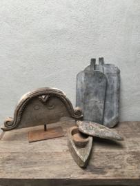 Oud vergrijsd houten doosje box kruidenbakje bakje kandelaar theelicht met deksel schaaltje landelijk stoer oud