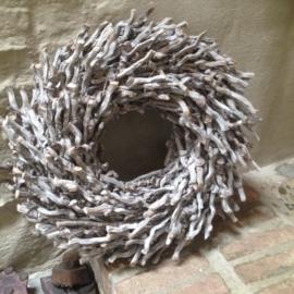 Vergrijsde botay krans 50 cm vergrijsd