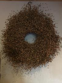Prachtige volle vlaskrans 40 cm landelijk brocant natuurlijke naturel nature