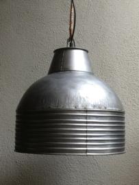 Grote grijze metalen industriële lamp hanglamp grijs fabriekslamp industrieel landelijk stoer industriële lamp kap metaal