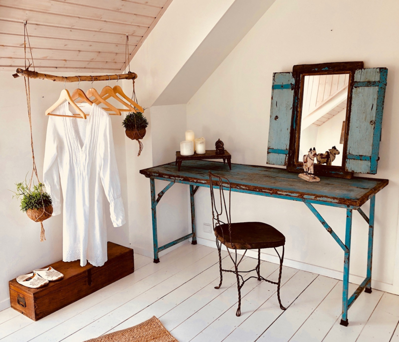 Oude landelijke industriële eettafel tuintafel 168 x 54 x 74 cm klaptafel markttafel  werkbank werktafel sidetable buro bureau oud vintage stoer
