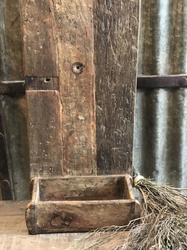 Oude voorraadbak, oud hout, landelijk