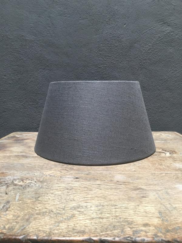 Grijs antraciet linnen donkergrijs taps ton donkergrijze grijze antreciet Lampekap 35-25-19 cm