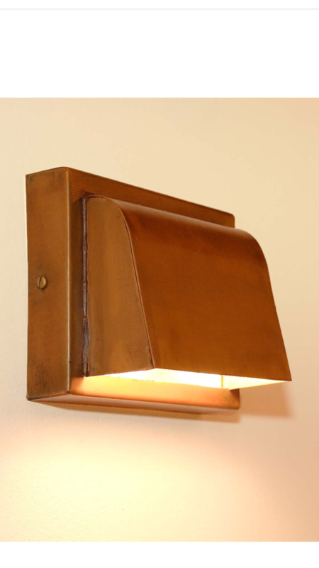 Koperen buitenlamp koper wandlamp buitenverlichting tierlantijn pretori grijs pretori spot wandspot wandlamp