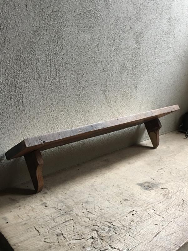Oude sloophouten wandplank wandrek 90 cm console plank landelijk stoer vintage hout