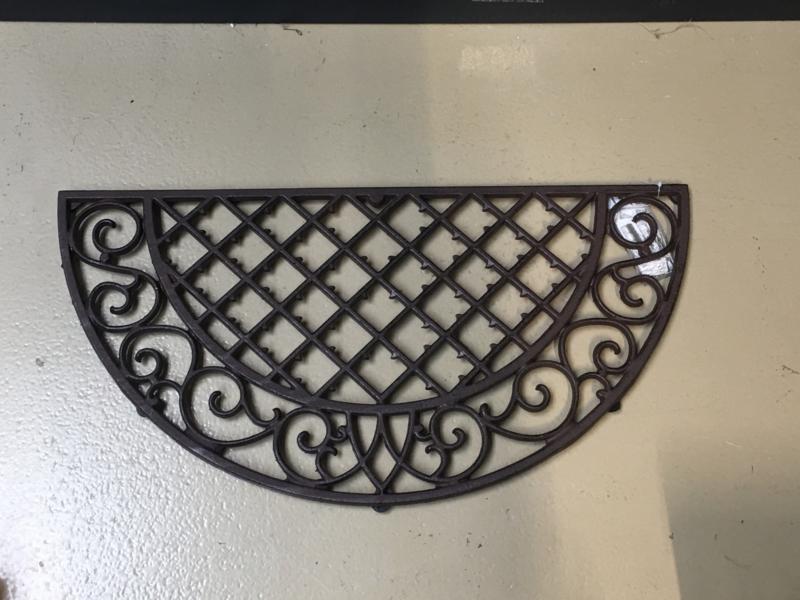 Halfronde deurmat gietijzer ornament paneel hek landelijk gietijzeren mat
