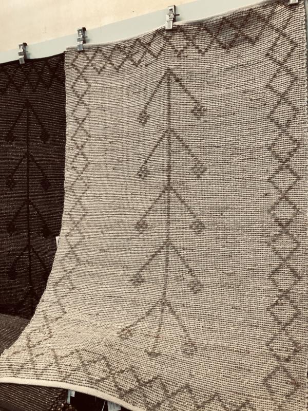 Gaaf seagrass kleed 180 x 120 cm vloerkleed plaid beige naturel jute