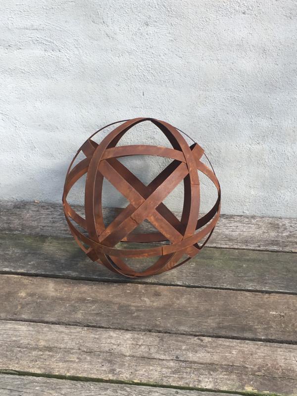 Grote smeedijzeren decoratie bol bal 50 cm tuin metaal metalen tuinornament bollen ballen