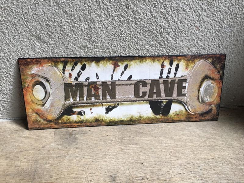 Tekstbord men man cave metalen wandbord reclamebord garage plaat wandplaat wandpaneel