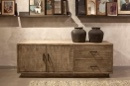 Houten sidetable sideboard kast tvmeubel televisie kast ladekast landelijk stoer grijs metaal hout 160 x 45 x H60 cm