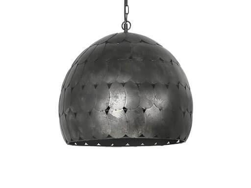 Stoere metalen hanglamp lamp plafondlamp landelijk vintage retro industrieel zwart grijs