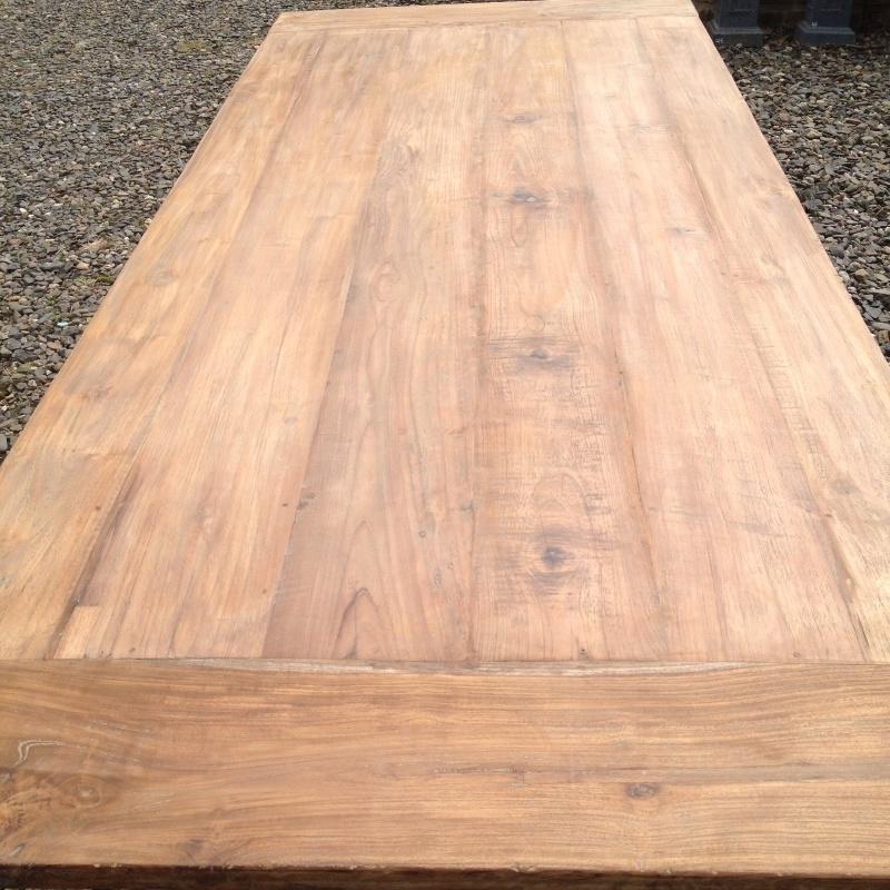 Teakhouten tafelblad gemaakt van oud teakhout 240 x 100 cm