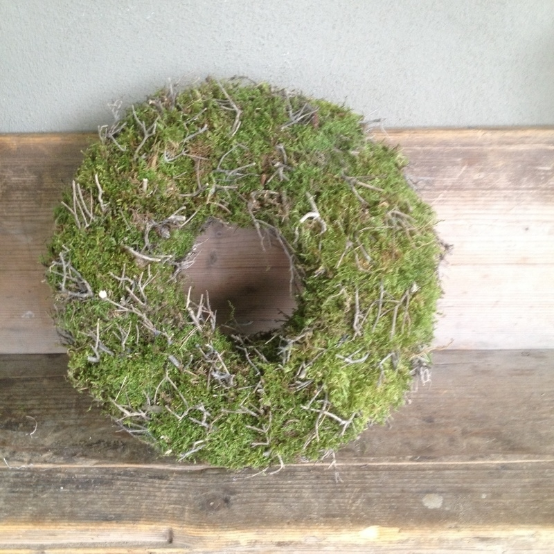 Zeer sfeervolle moskrans naturel herfst winter krans 30 cm krans kransje mos