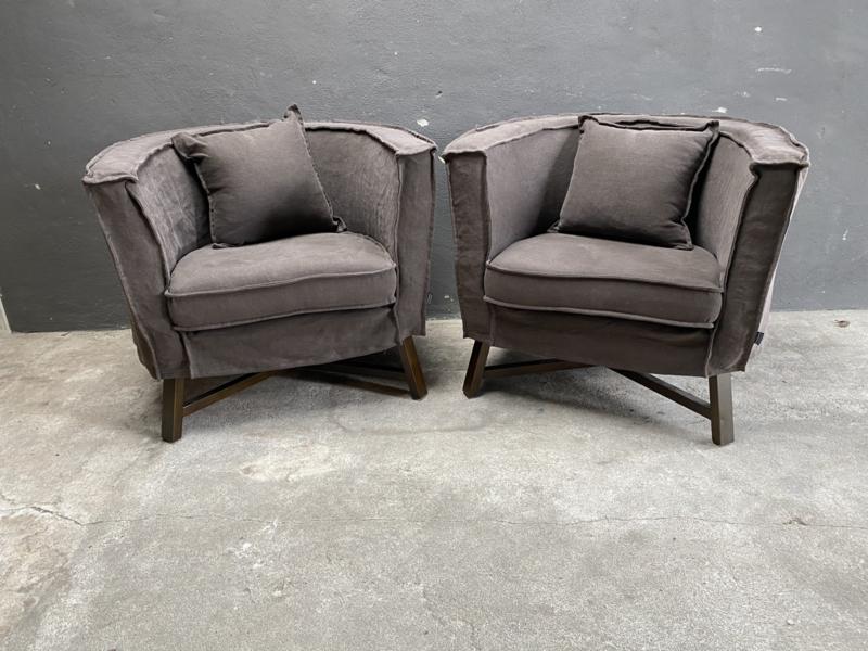 Prachtige fauteuil Dirk fauteuils Aura Peeperkorn landelijk sober espresso