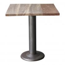 Eettafel industrieel landelijk tafel 70 x 70 x H76 cm tafel bistro terras cafe eetcafe industriele metalen voet