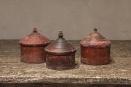 Oude houten Tika doosjes vintage brocant landelijk kleurtjes doosje bakje box oosters