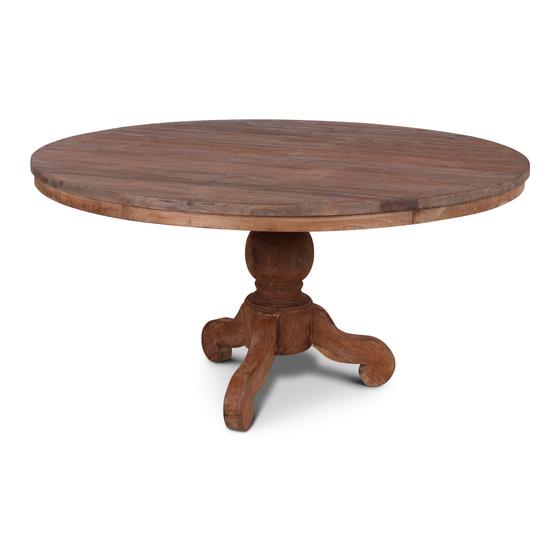 Grote oud houten tafel eettafel eetkamertafel rond 160 cm bijzettafel wijntafel wijntafeltje landelijk stoer floris