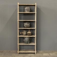 Prachtige oud houten boekenkast kast rek schap landelijk stoer robuust olmwood olmenhout