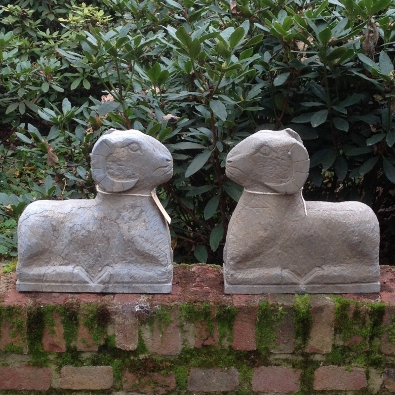 Zware stenen ram rammen beeld grijs beige matte afwerking hardsteen hardstenen