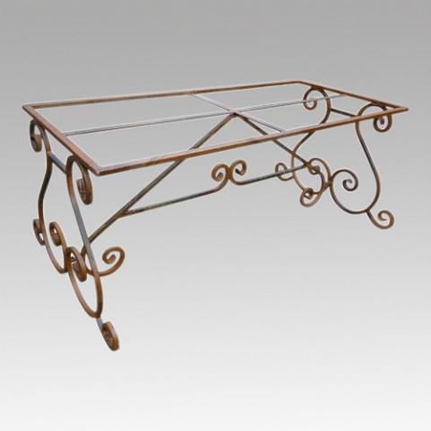 Smeedijzeren tafel onderstel krul 270x80 cm tafelonderstel