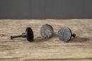 Gietijzeren deurknopje knopje greepje deurknop ovaal massief zwart grijs metaal landelijk stoer industrieel vintage urban