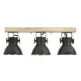 Industriële metalen hanglamp urban wandlamp 3 groene legergroene army khaki  kappen spot spots metaal verstelbaar landelijk stoer vintage