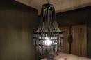 Stoere metalen hanglamp kroonluchter lamp zwart grijs metaal be uniq ketting Katie urban stoer industrieel landelijk vintage