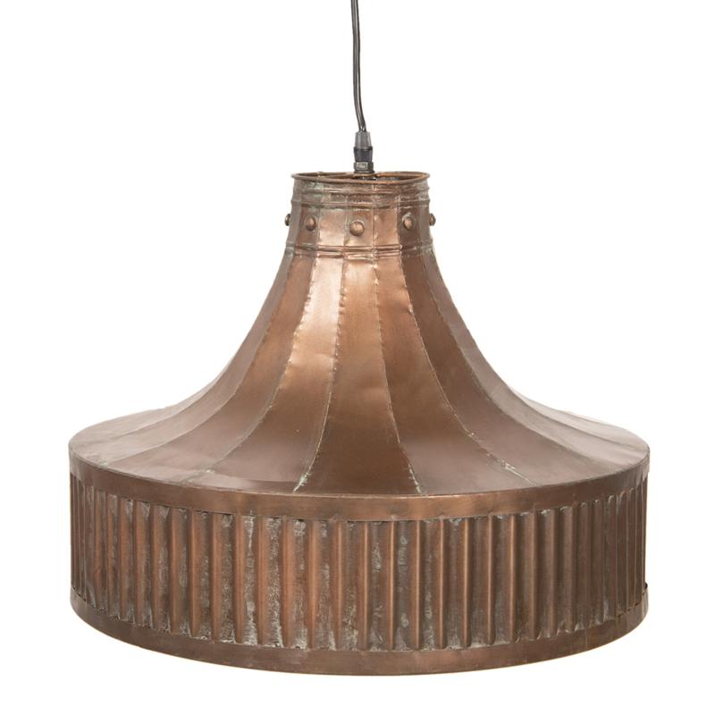 Koperkleur metalen hanglamp lamp vintage landelijk stoer