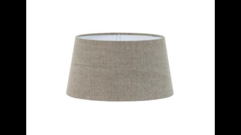 Lampekap kap kapje drum 40-35-20 cm vintage otter rond ton