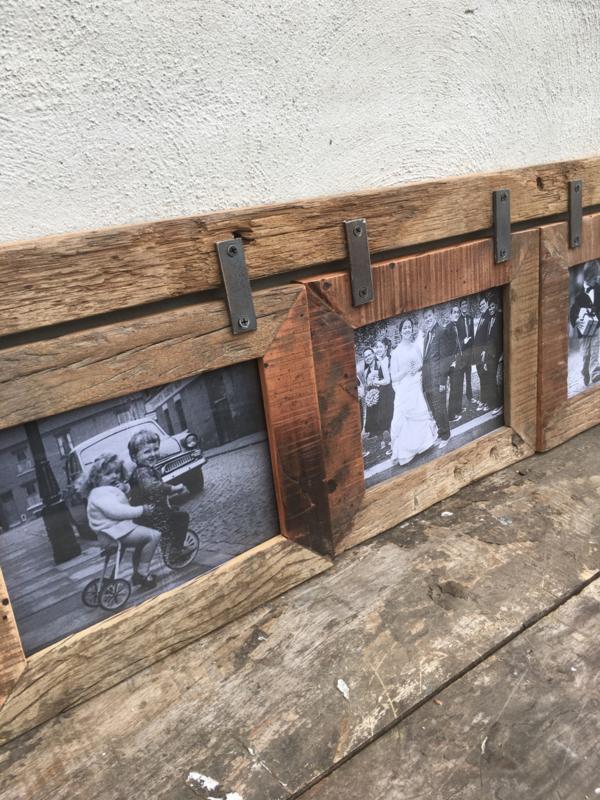 Grote Houten Fotolijst.Grote Railway Houten Fotolijst Geschikt Voor 3 Foto S Fotolijstjes