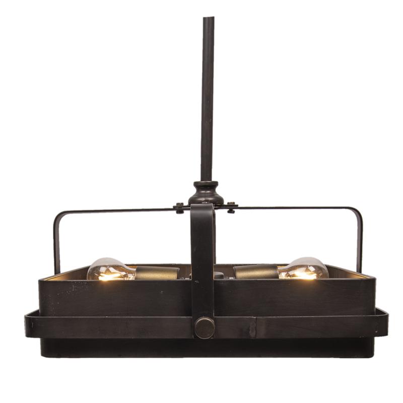 Metalen hanglamp lamp vintage stoer landelijk industrieel koperkleur bruin koper brons kleur