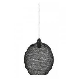 Hanglamp gaas draadijzer zwart 20 x 18 m landelijk stoer lamp korflamp